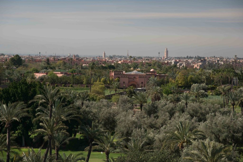 Marrakech vue de la tour du club