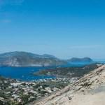 Les îles éoliennes vues de Vulcano