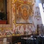 Sicile, taormine, terrasse de café cad