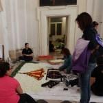 Noto, préparation des tapis de fleurs pour la prochaine Infiorata di Noto