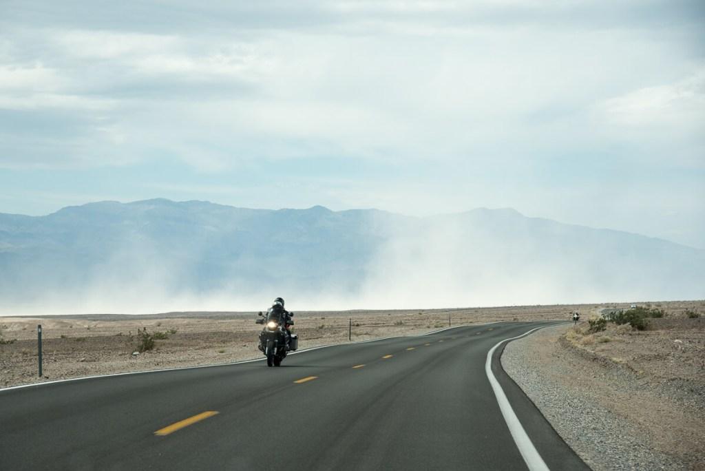 tempête de sable à Death valley