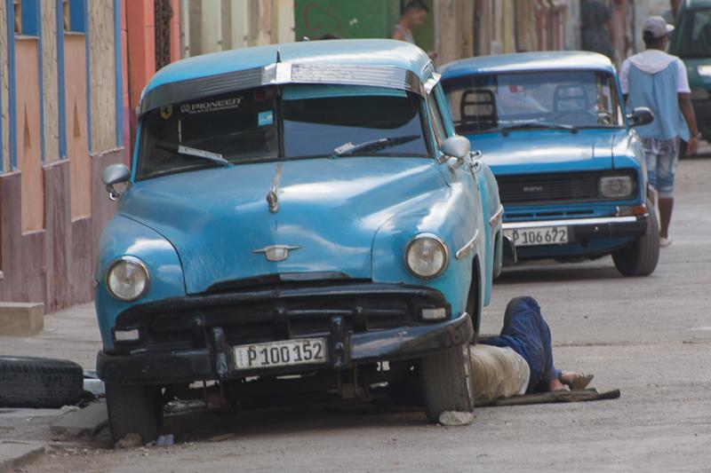 Cuba - la Havane, mécanicien