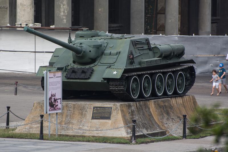 Cuba - La Havane - char de Castro au musée de la révolution