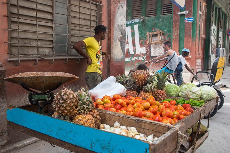 Cuba - La Havane - fruits et légumes