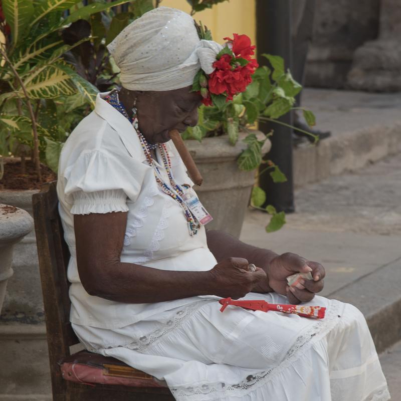 Cuba - La Havane, personnage de guide touristique