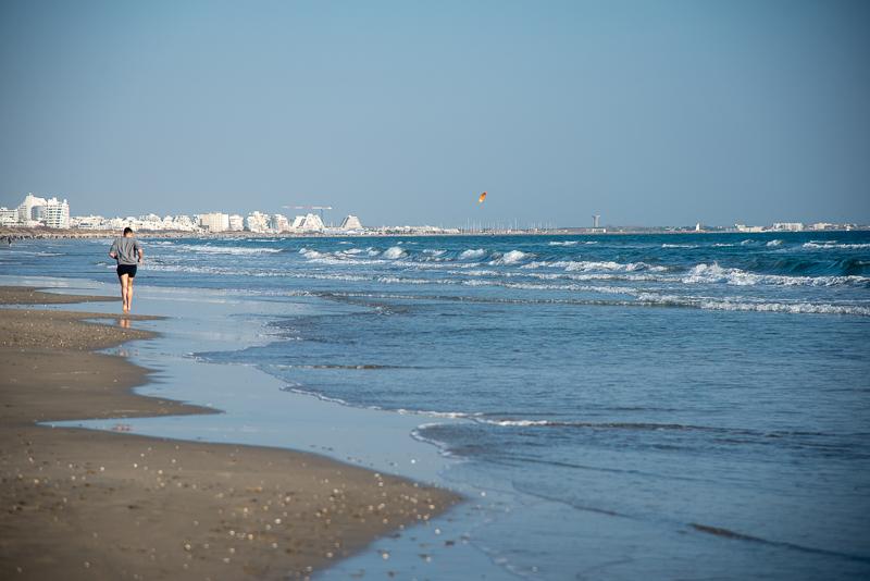 Montpellier- Jogging sur la plage de Carnon