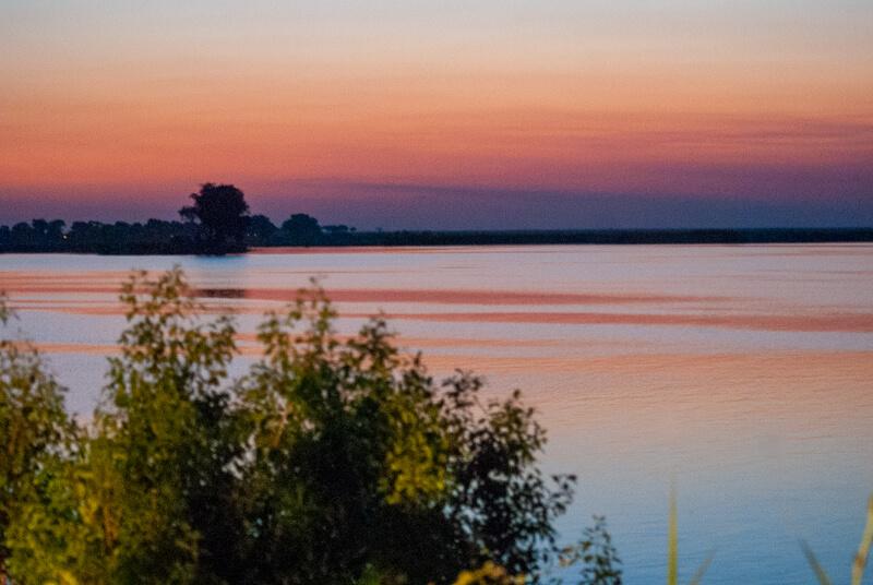 Afrique australe - Botswana - coucher de soleil sur la rivière Chobe