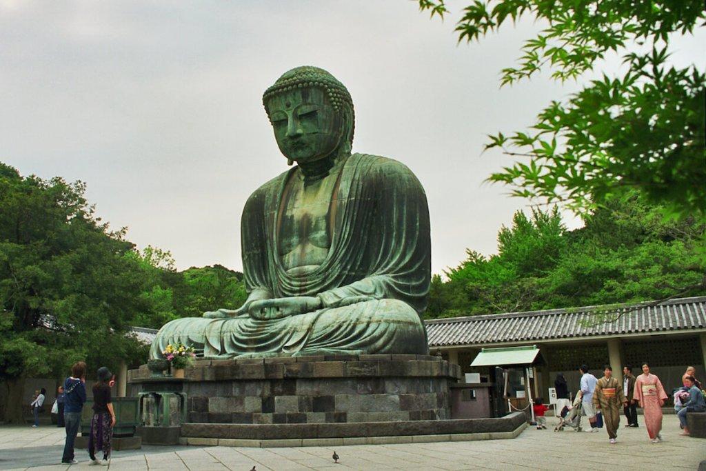 Japon, Kamakura - Grand Bouddha au temple Kotoku-in