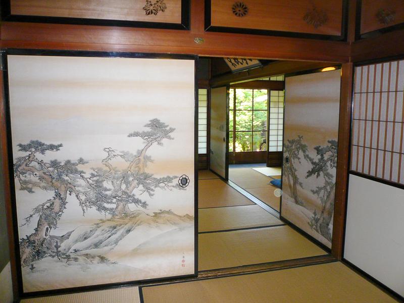 Japon, Takayama - Intérieur de maison