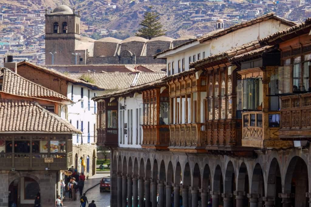 Pérou, Cuzco - façades en bois