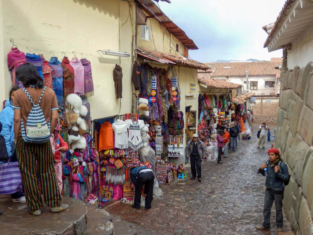 Pérou, Cuzco - rue commerçante