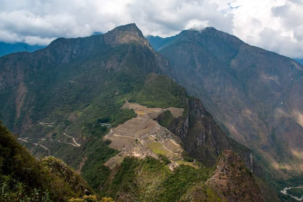 Machu Picchu - Vue générale du site depuis le Huayna Picchu
