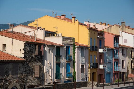 France - Ville de Collioure, façades