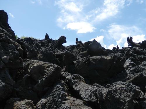 Etna, Coulée de lave aux formes fantasmagoriques