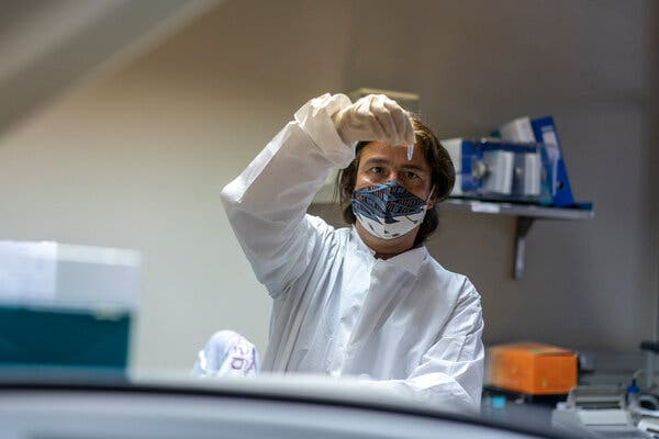 Tulio de Oliveira, a geneticist at the Nelson Mandela School of Medicine in Durban and a member of the W.H.O.'s working group, in his lab in January.