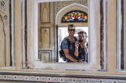Wir im Nahargarh Fort