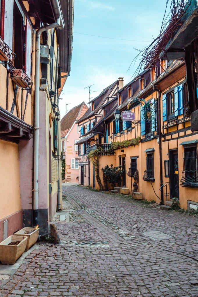 Case colorate di Eguisheim, Alsazia