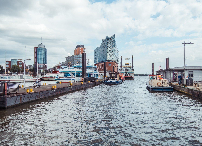 Vista porto e Hafencity Amburgo