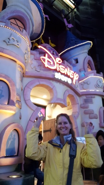 Pre-purchases Disney tickets in Shibuya