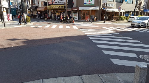 Nara's version of Shibuya Crossing, not quite as hectic