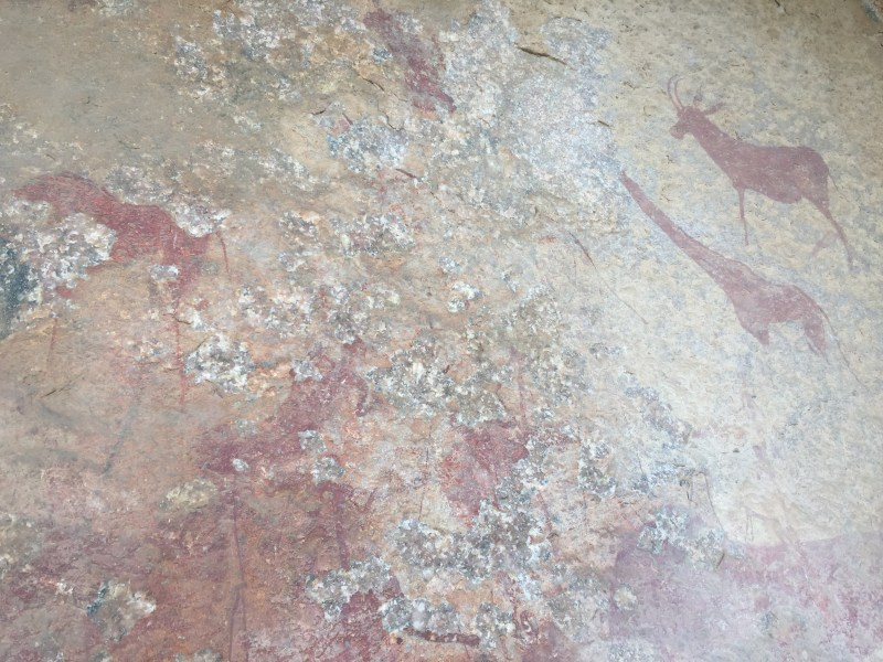Cave paintings, Wolhuter Wilderness Trail, Kruger National Park, South Africa