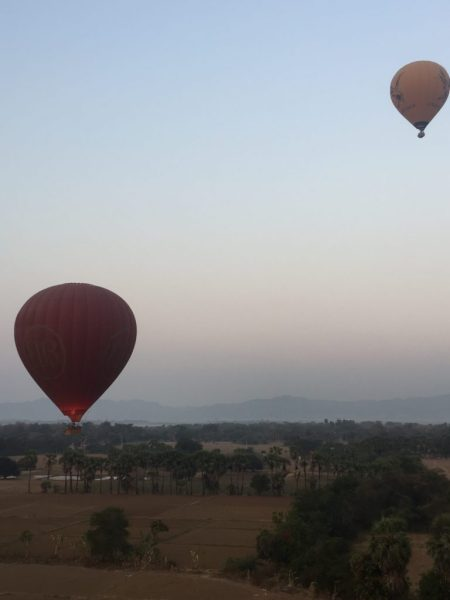 Hot air balloons, Bagan, Myanmar