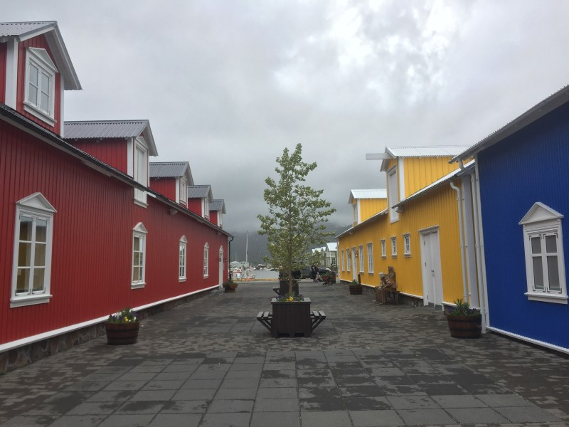 Red, yellow and blue buildings