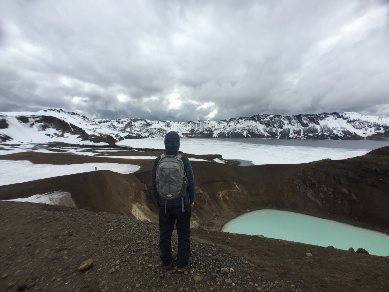 Me in front of the crater and Askja