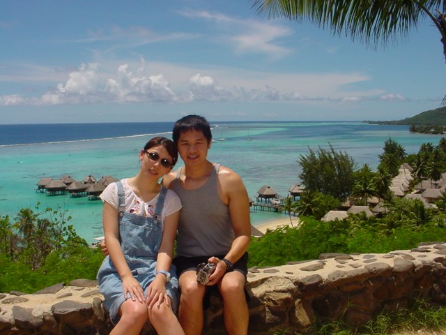 On our honeymoon in Tahiti