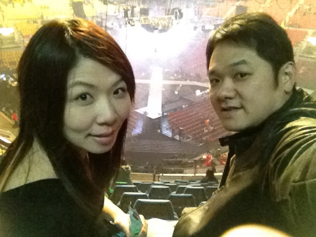 At Leon Lai concert in Hong Kong, Dec. 2011