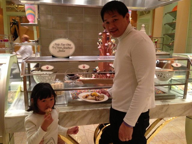 Indulging in sweets at the Wynn buffet