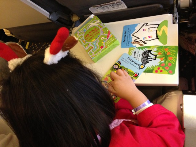 A great activity set for road trips to keep Bridgette entertained