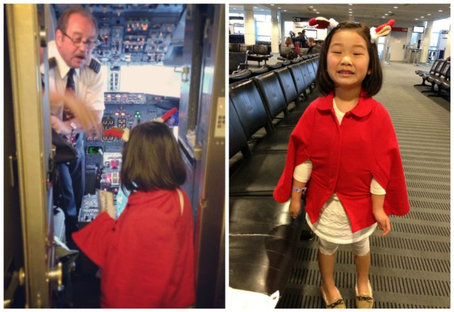 "Pilot gave her a little gift for her ""great X'mas spirit"" when she popped in to wish him a merry christmas :)"