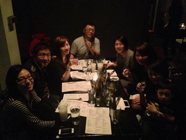 Late night snack + sake after karaoke
