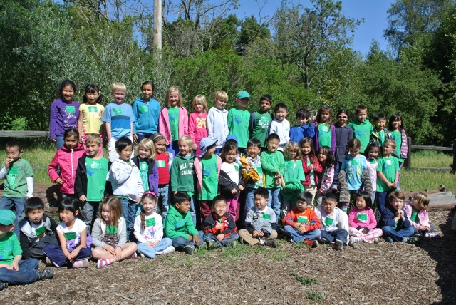 It took some effort to get this big group photo of all the kindergarteners!