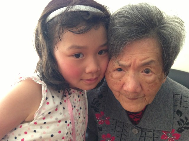 Bridgette and her great grandma
