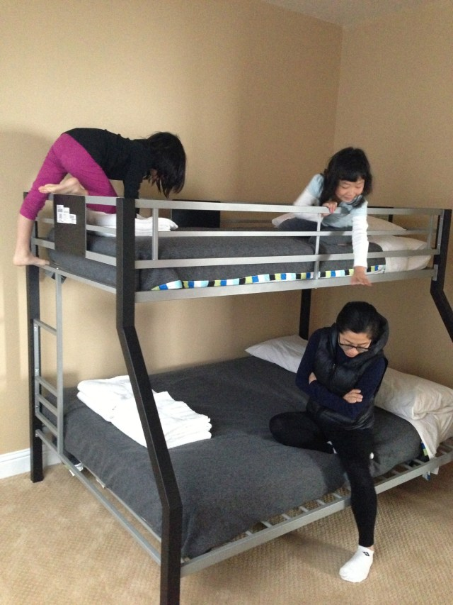 The kids went ga-ga over the bunk bed
