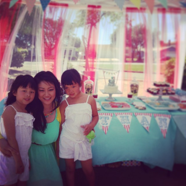 The two girls with Aunty Amanda