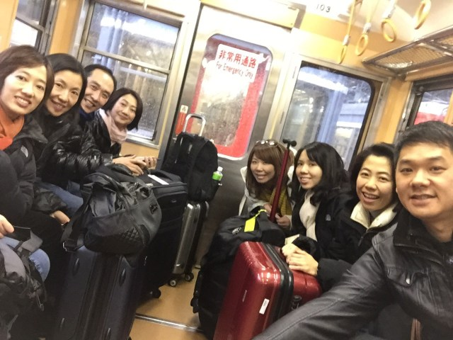All packed up and taking the subway to the bullet train station at Shinjuku