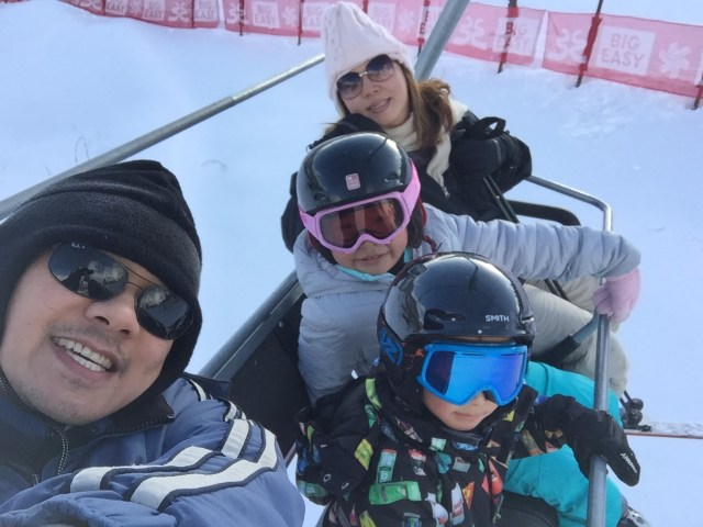 First time taking the kids up a real lift, yay!