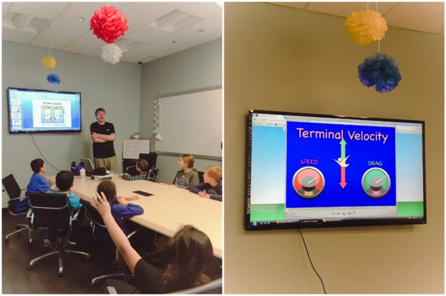 """A little """"classroom style"""" lesson after the activity, but the instructor was funny and engaging so the kids really enjoyed it."""