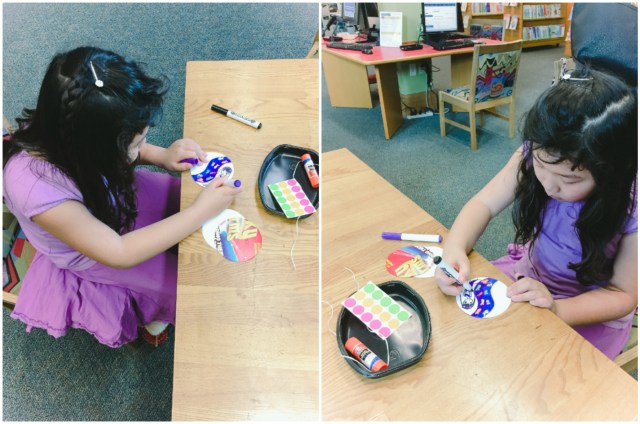We love taking advantage of free art and craft sessions at our local library!
