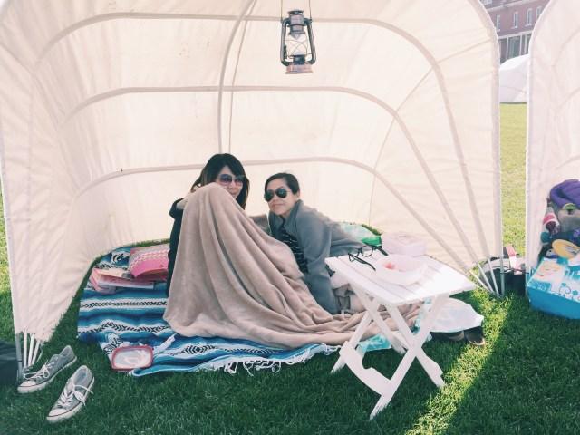Cozying up at Presidio Twilight