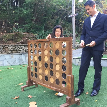 Lifesize Connect Four (Bridgette totally beat Alan!)