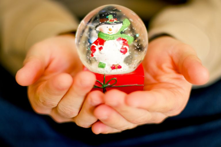 christmas xmas snowman snowglobe