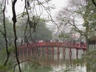 Huc Bridge, Hoan Kiem Lake, Hanoi