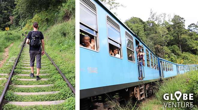 Auf Schienen laufen, in Sri Lanka ganz normal
