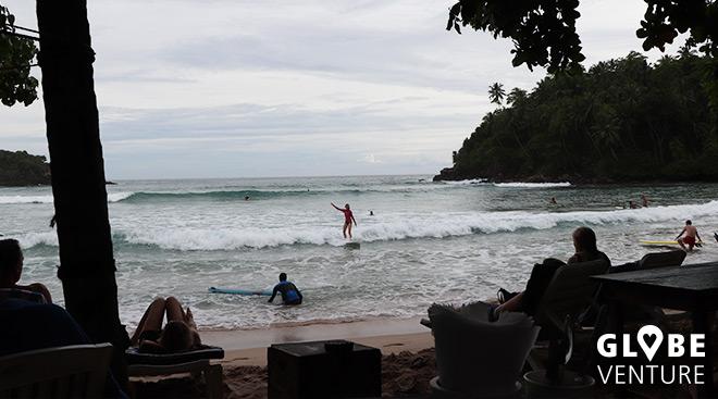 Surfer in Hiriketiya