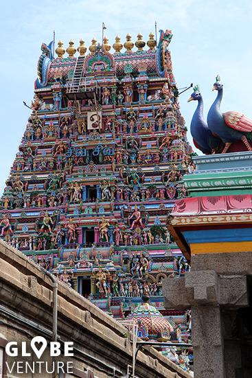 Erstaunlicher Detailreichtum im Kapaliswarar Tempel