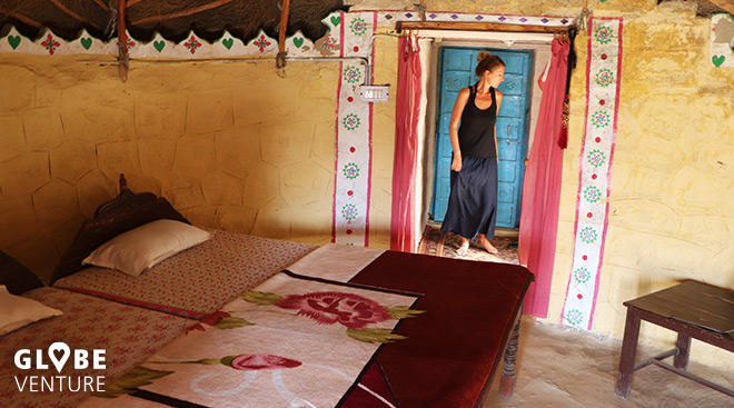Luxus in der Wüste Thar - unser runder Bungalow